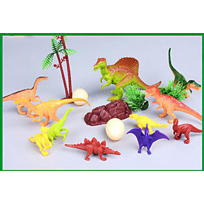 cheap Animal Action Figures-Dragon & Dinosaur Toy Dinosaur Figure Triceratops Jurassic Dinosaur Velociraptor Tyrannosaurus Rex Plastic Kid's Party Favors, Science Gift Education Toys for Kids and Adults