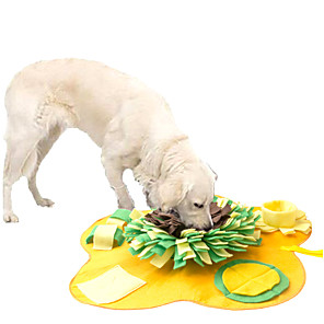 cheap Synthetic Trendy Wigs-Feeding Mat Snuffle Mat Dog Cat Pet Toy 1pc Flower Foldable Washable Pet Exercise Encourage Natural Foraging Skills Canvas Gift