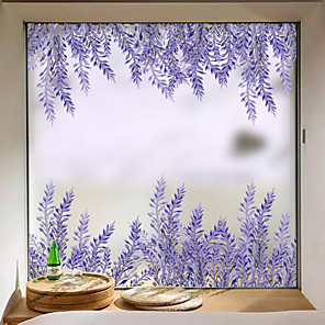cheap Wall Stickers-Lavender Matte Window Stickers Shop Living Room Bedroom Balcony Window Film 60*58cm
