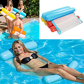 cheap Inflatable Ride-ons & Pool Floats-Water Hammock Single People Increase Inflatable Air Mattress Beach Lounger Floating Outdoor Foldable Sleeping Bed Chair