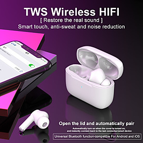 cheap TWS True Wireless Headphones-Original Y35 TWS True Wireless Earbuds Wireless Bluetooth 5.0 Stereo Dual Drivers Auto Pairing Smart Touch Control for Mobile Phone