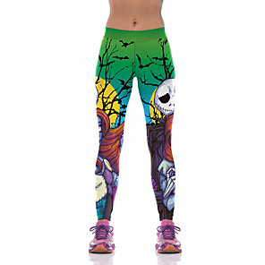cheap Everyday Cosplay Anime Hoodies & T-Shirts-Inspired by The Nightmare Before Christmas Pants Spandex Printing Pants For Women's