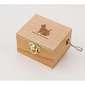 cheap Music Boxes-Music Box Unique Wood Women's Unisex Girls' Kid's Adults Graduation Gifts Toy Gift