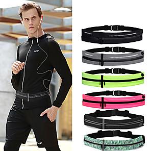 cheap Running Bags-Running Belt Fanny Pack Belt Pouch / Belt Bag for Running Hiking Outdoor Exercise Traveling Sports Bag Adjustable Waterproof Portable Tactel Lycra® Men's Women's Running Bag Adults