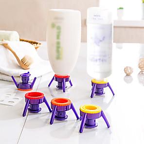 cheap Bathroom Gadgets-6pcs Deluxe Cap Kit Flip It Shampoo Lotion Syrup Condiments Bottle Cap