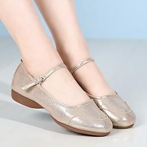 cheap Women's Sandals-Women's Modern Shoes Flat Cuban Heel Synthetics Gold / Silver / Performance