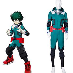cheap Anime Costumes-Inspired by My Hero Academia Boko No Hero izuku midoriya Anime Cosplay Costumes Japanese Cosplay Suits Leotard / Onesie Gloves Belt For Men's Women's / Kneepad / Wrist Brace