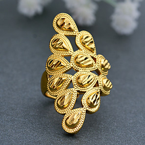 cheap Jewelry Sets-Women's Ring Open Cuff Ring Adjustable Ring 1pc Gold Gold Plated Irregular Statement Stylish Luxury Wedding Party Evening Jewelry