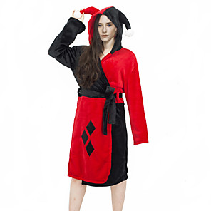 cheap Anime Costumes-Inspired by Suicide Squad Harley Quinn Anime Cosplay Costumes Japanese Sleepwear Bath Robe For Women's