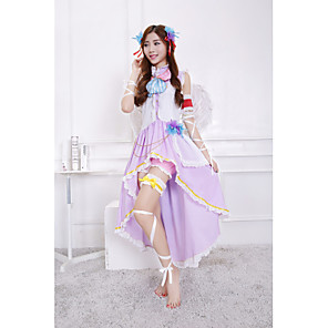 cheap Anime Costumes-Inspired by Love Live Anime Cosplay Costumes Japanese Cosplay Suits Top Skirt Wings For Women's / Bow / Headwear / Bow Tie