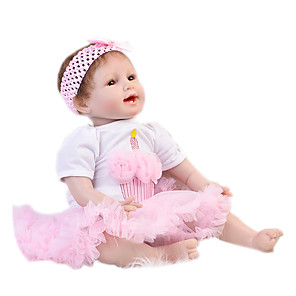 cheap Reborn Doll-Reborn Baby Dolls Clothes Reborn Doll Accesories Cotton Fabric for 20-22 Inch Reborn Doll Not Include Reborn Doll Princess Skirt Soft Pure Handmade Girls' 2 pcs