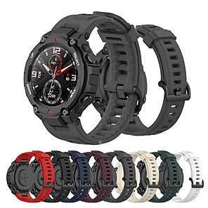cheap Smartwatch Bands-Sport Rubber Watch Band for Amazfit T-Rex Silicone Durable Watchband Strap for Huami Amazfit T-Rex