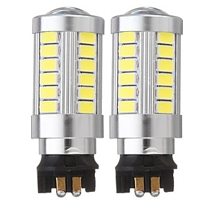 cheap Abstract Paintings-2PCS PW24W 33-SMD LED DRL Daytime Running Lights Replacement Fog Bulbs with Lens 12V 6500K White