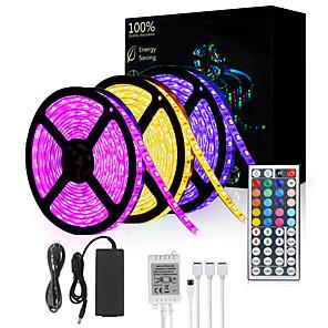 cheap LED Strip Lights-15M(3*5M) 5050 900 LEDs 10mm RGB Waterproof with 44Keys IR Remote Controller Flexible LED Strip Light