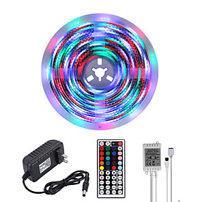 cheap OBD-MASHANG Bright RGBW LED Strip Lights 5M Waterproof RGBW Tiktok Lights 1170LEDs SMD 2835 with 44 Keys IR Remote Controller and 100-240V Adapter for Home Bedroom Kitchen TV Back Lights DIY Deco