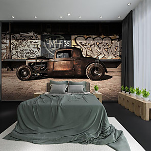 cheap Wallpaper-Custom Self-adhesive Mural Master Car Suitable for Background Wall Coffee Shop Hotel Wall Decoration Art