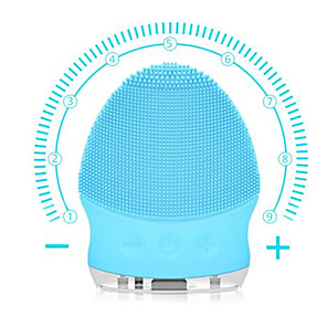 cheap Facial Care Device-Facial Cleansing Brush Electric Sonic Face Cleansing Brush Waterproof Mini Silicone Facial Cleaner Massage USB ReChargeable