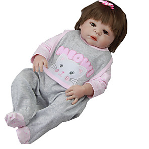 cheap Reborn Doll-Reborn Baby Dolls Clothes Reborn Doll Accesories Cotton Fabric for 22-24 Inch Reborn Doll Not Include Reborn Doll Cat Soft Pure Handmade Girls' 3 pcs