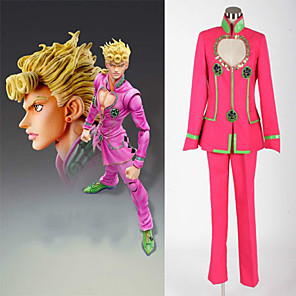 cheap Anime Costumes-Inspired by JoJo's Bizarre Adventure Anime Cosplay Costumes Japanese Cosplay Suits Coat Pants For Men's Women's