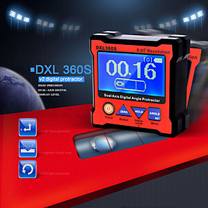 cheap Level Measuring Instruments-DXL360S PROFESIONAL DE DOBLE EJE Digital indicador de nivel de pantalla doble eje ngulo Digital transportador con 5 lados magntico Base