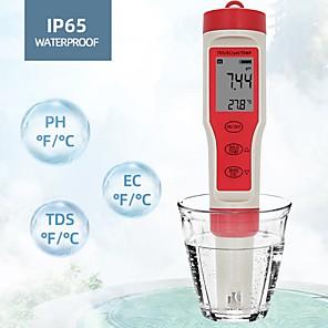 preiswerte Tester & Detektoren-keine Batterie ez9908 digital ph ph meter 4 in 1 ph tds ec temp tester ersetzen sonde wassermengenmesswerkzeug wein urinanalysator