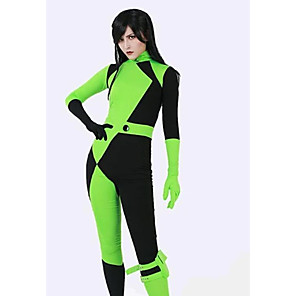 cheap Anime Costumes-Zentai Suits Cosplay Costume Ninja Adults' Lycra Spandex Cosplay Costumes Cosplay Halloween Women's Color Block Halloween Carnival Masquerade / Catsuit / Catsuit / High Elasticity