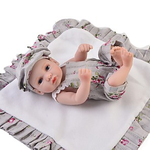 cheap Reborn Doll-Reborn Baby Dolls Clothes Reborn Doll Accesories Cotton Fabric for 10-11 Inch Reborn Doll Not Include Reborn Doll Flower Soft Pure Handmade Boys' 3 pcs