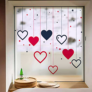 cheap Wall Stickers-Frosted Privacy Love Pattern Window Film Home Bedroom Bathroom Glass Window Film Stickers Self Adhesive Sticker 58 x 60CM