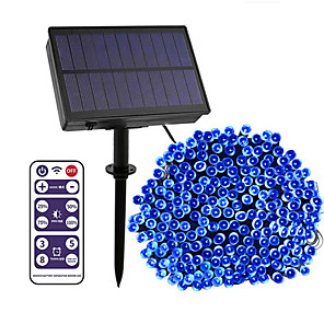 cheap Outdoor IP Network Cameras-12-key Remote Control  100m String Lights 800 LEDs High Power LED 8 Mode Control  Dimming  Time Setting  Warm White White Blue Waterproof Outdoor Solar 12 V 1Set