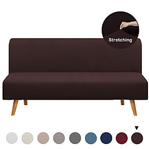 cheap Cushion Covers-Futon Cover Armless Sofa Slipcover Stretch Sofa Bed Cover Protector Without Armrests Elastic Spandex Modern Simple Mattress Folding Couch Shield Sofa Cover Machine Washable