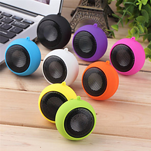 cheap Portable Speakers-Fashion Cute Mini Speaker Mp3 Music Loudspeaker Player Outdoor 3.5mm Portable Wired Speaker Sound Box for Computer Phones