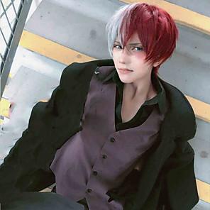 cheap Anime Costumes-My Hero Academia / Boku No Hero Todoroki Shoto Cosplay Wigs Boys' Girls' 14 inch Heat Resistant Fiber Anime Wig