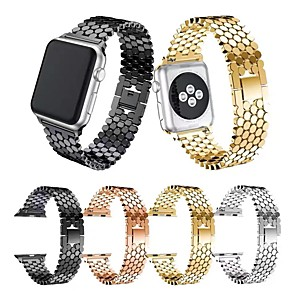cheap Smartwatch Bands-Watch Band for Apple Watch Series 5 / Apple Watch Series 4/3/2/1 Apple Classic Buckle Stainless Steel Wrist Strap