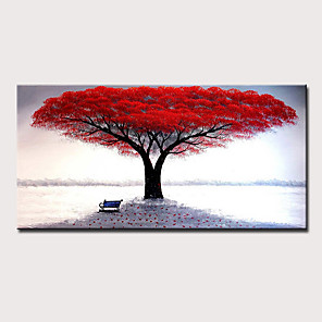 cheap Floral/Botanical Paintings-Mintura® Large Size Hand Painted Abstract Tree Landscape Oil Paintings On Canvas Modern Pop Art Posters Wall Picture For Home Decoration No Framed