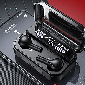 cheap Gaming Headsets-Imosi TWS Wireless Bluetooth 5.0 Earbuds LED Display Mini 2000mAh Sports Waterproof Headphones Gaming Earphones For iPhone HUAWEI