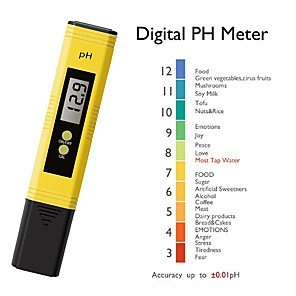 cheap Testers & Detectors-Digital LCD PH Meter Pen of Tester Aquarium Pool Water Wine Automatic Calibration Water Quality Purity Test Tool Accuracy 0.1