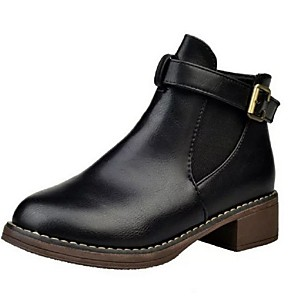 cheap Women's Boots-Women's Boots Fall / Winter Flat Heel Round Toe Daily PU Dark Brown / Black / Burgundy