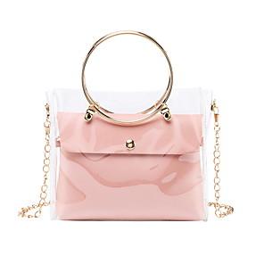 cheap Handbag & Totes-Women's Bags PU Leather Bag Set 2 Pieces Purse Set Zipper for Daily White / Black / Purple