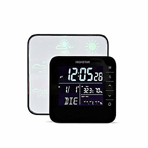 cheap Temperature Instruments-Wireless Weather Forecast StationMultifunctional Indoor Temperature Humidity Meter Tester Thermometer Hygrometer Date Time Alarm Clockfor Comfort of Home and Office