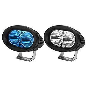 cheap Motorcycle Lighting-12V Motorcycle Oval Spotlight LED Work Light Waterproof IP67 Universal