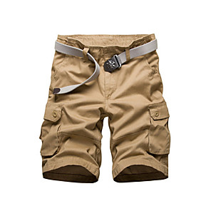 cheap Stuffed Animals-Men's Basic Daily Slim Shorts Tactical Cargo Pants Solid Colored Summer Black Yellow Army Green US38 / UK38 / EU46 US40 / UK40 / EU48 US42 / UK42 / EU50