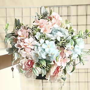 cheap Artificial Plants-26.5cm Simulation Wedding Decorations Plant Wall Roses 1 Stick