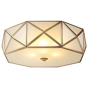 cheap Dimmable Ceiling Lights-QIHengZhaoMing 3-Light 35 cm Geometric Shapes Flush Mount Lights Metal Glass Brass Modern 110-120V / 220-240V