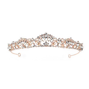 cheap Rings-Fashion Alloy Tiaras / Headdress with Rhinestone 1 Piece Wedding / Special Occasion Headpiece