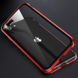 cheap iPhone Cases-Magnetic Case For iPhone SE 2020 11 11 Pro 11Pro Max X XS XR XS Max 8Plus 7 Plus 8 7 Double Sided Glass Protective Case 360 Metal Cover With Len Protection Cases