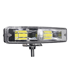 cheap Car Headlights-1pcs 12-24V For Auto Motorcycle Truck Boat Tractor Trailer Offroad Working Light 48W work led Bar COB CHIP Offroad LED Work Car Light Truck Off-road Tractor SUV 4x4 Car Led Headlights Fog Lighting
