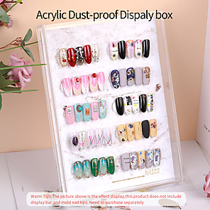 cheap Rhinestone & Decorations-Transparent Acrylic Dust Proof Display Stand Display Board Color Board Display Box