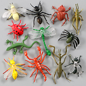cheap Animal Action Figures-Display Model Model Building Kit Insect Animals Simulation Plastic PVC(PolyVinyl Chloride) 12 pcs Party Favors, Science Gift Education Toys for Kids and Adults / 14 Years & Up