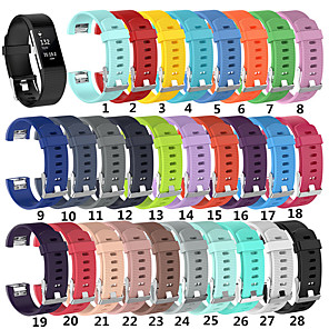 cheap Smartwatch Bands-For Fitbit Charge 2 Replacement Silicone Watch Strap Band