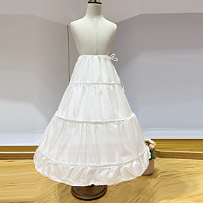 cheap Historical & Vintage Costumes-Princess Petticoat Hoop Skirt Girls' Movie Cosplay White Petticoat Polyester